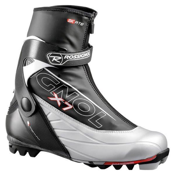 Rossignol X7 Skate Cross Country Ski Boots Black / Silver U.S.A. & Canada