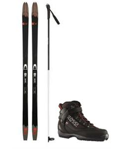 Rossignol BC-80 Positrack XC Skis/BC Auto Bindings + Boots & Poles Package