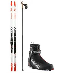 Rossignol Delta Sport XC Skis/Race Skate Bindings + Boots & Poles Package