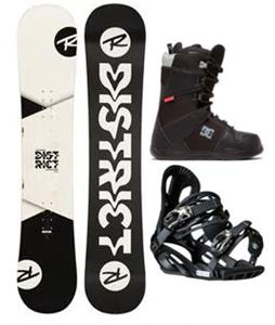 Rossignol District B&W Snowboard Package