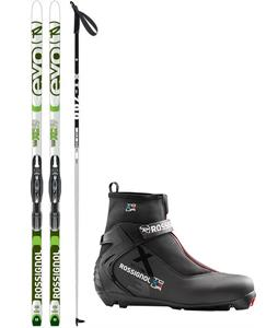 Rossignol Evo XC 59 IFP XC Complete Ski Package + Poles
