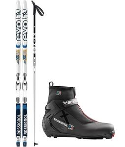 Rossignol Evo XC 65 IFP XC Complete Ski Package + Poles