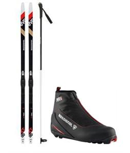 Rossignol Evo XT 55 XC Skis/Tour SI Bindings + Boots & Poles Package