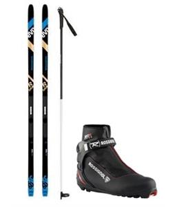 Rossignol R-Skin Evo XC 60 XC Skis/Control Step In Bindings + Boots & Poles Package