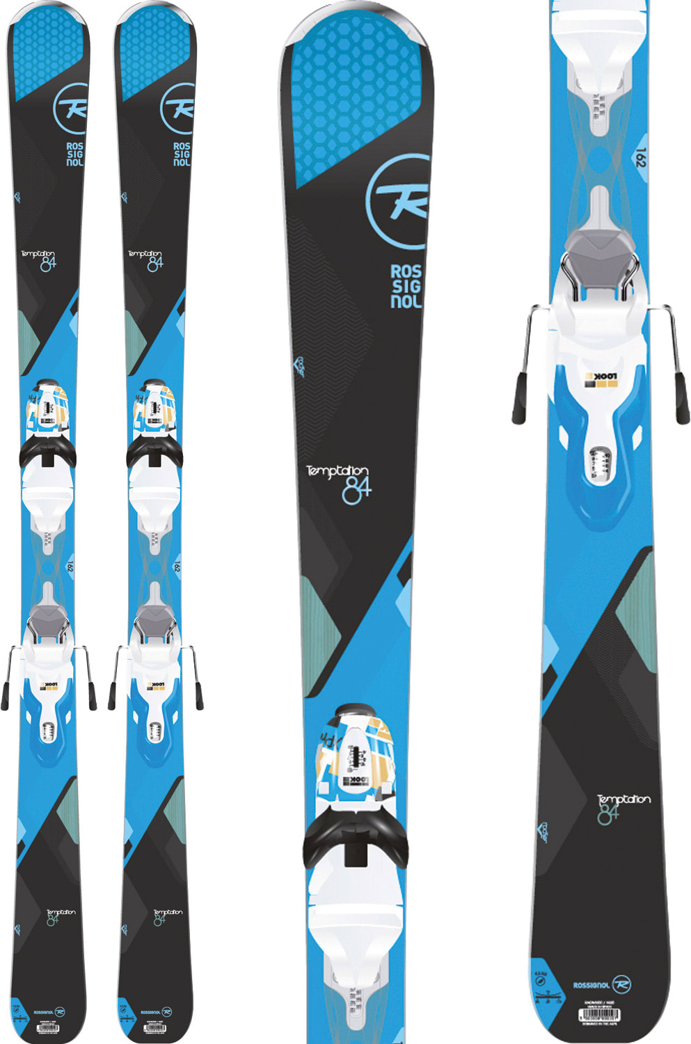 af3d8b209a Rossignol Temptation 84 Carbon Skis w  Xpress 11 Bindings - thumbnail 1