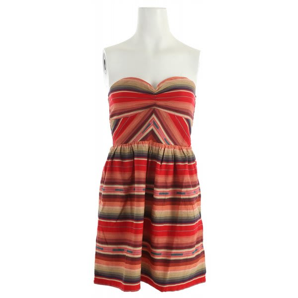 Roxy Fall Doll Dress Red Multi Stripe U.S.A. & Canada