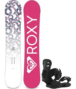Roxy Glow Snowboard w/ Union Rosa Bindings