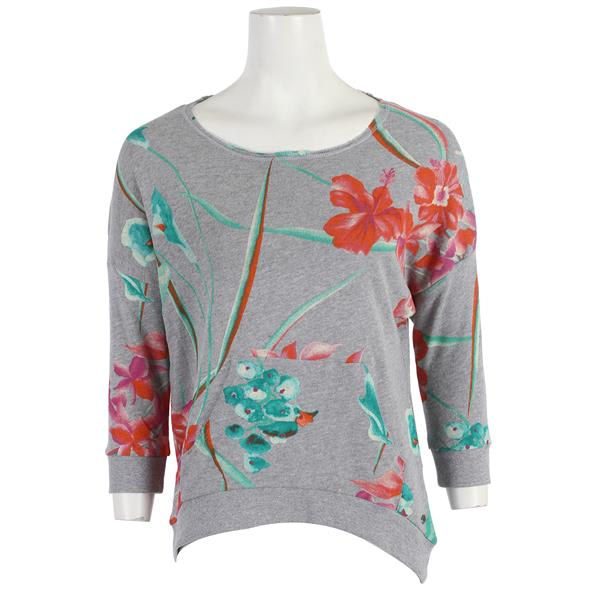 Roxy Love Sometimes Sweatshirt Heritage Heather Tropical Print U.S.A. & Canada