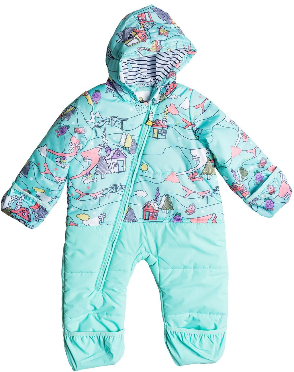 Womens Snow Suit One Piece >> Roxy Rose Little Miss Baby Snowsuit - Girls
