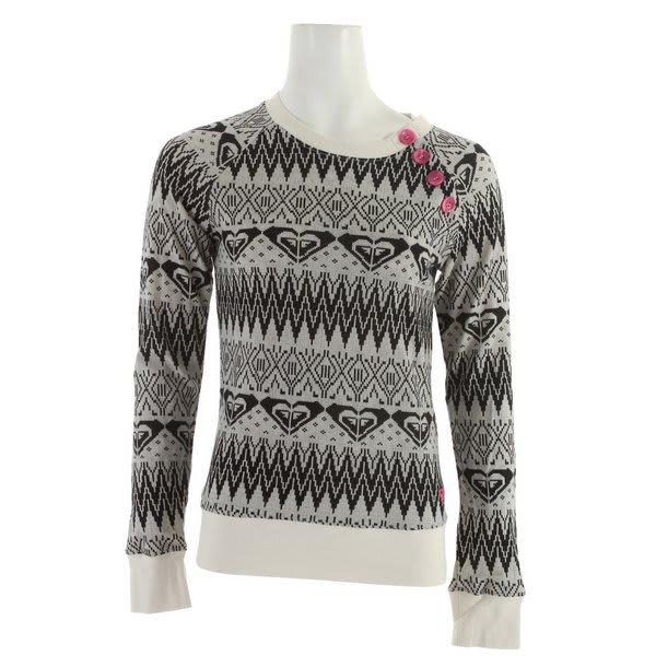 Roxy Snow Powder Sweatshirt White Print U.S.A. & Canada