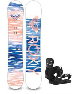 Roxy Sugar Banana Snowboard w/ Union Rosa Bindings