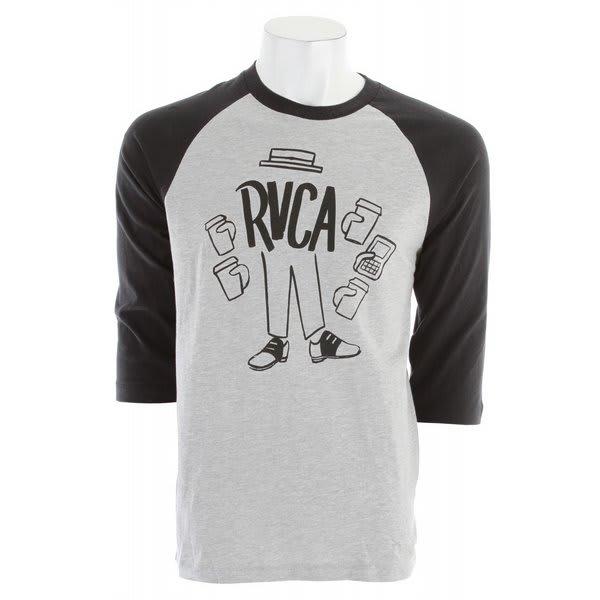 Rvca Coffee Raglan T Shirt U.S.A. & Canada