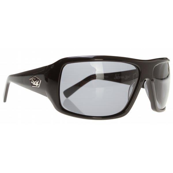 S4 Xander Sunglasses Shiny Black / Grey Polarized Lens U.S.A. & Canada