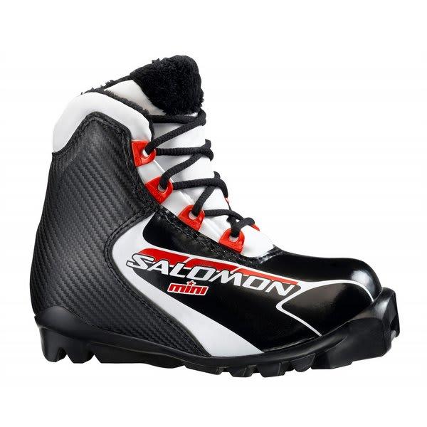 Salomon Mini Cross Country Ski Boots Black / Red U.S.A. & Canada
