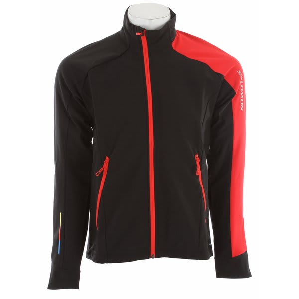 Salomon Momentum 3 Softshell Cross Country Ski Jacket Black / Matador X / Black U.S.A. & Canada