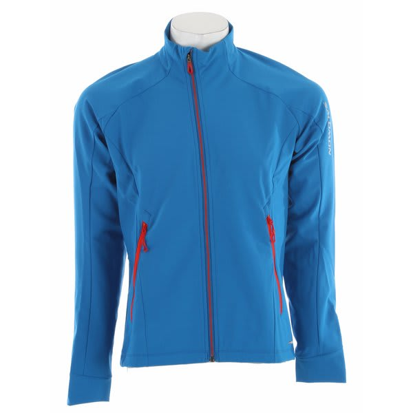 Salomon Momentum 3 Softshell Cross Country Ski Jacket Vibrant Blue / Black U.S.A. & Canada