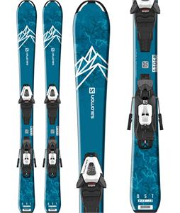 Salomon QST Max Jr Small Skis w/ C5 GW Bindings
