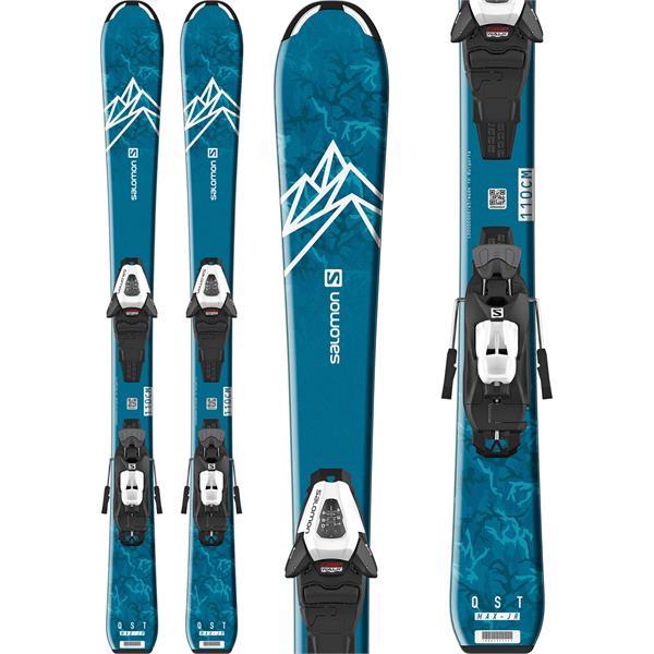 Salomon QST Max Jr Small Skis W/ C5 GW Bindings