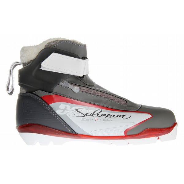 Salomon Siam 7 Pilot Cross Country Ski Boots Grey / White U.S.A. & Canada
