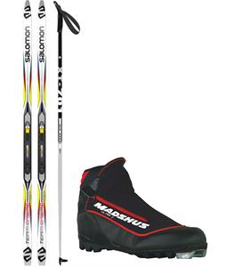 Salomon Team Racing Grip Cross Country Complete Ski Package + Poles