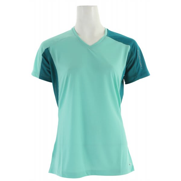 Salomon Trail Iv T Shirt Celadon / Dark Bay Blue / Dark Bay Blue U.S.A. & Canada