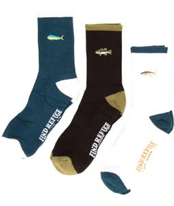 Salty Crew Happy Fish 3 Pack Socks