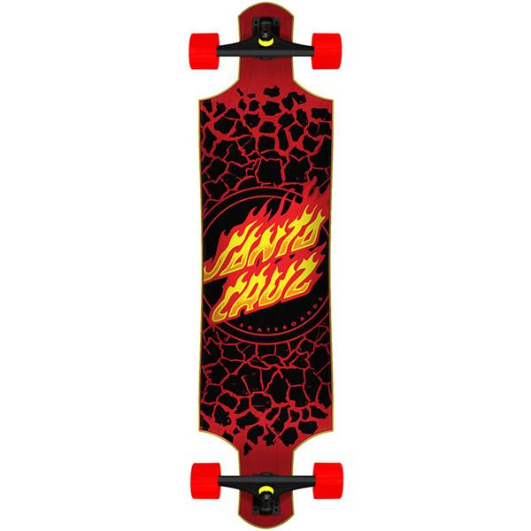 Santa Cruz Flame Dot Drop-Down Longboard Complete