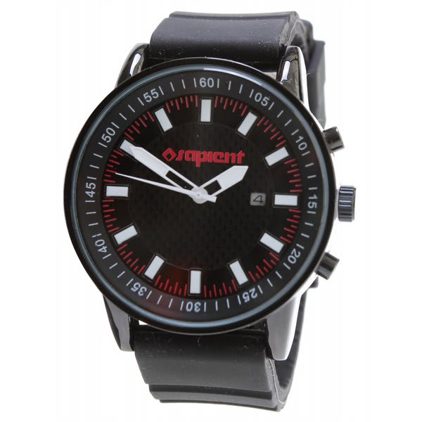 Sapient Timecheck Watch Black / White U.S.A. & Canada
