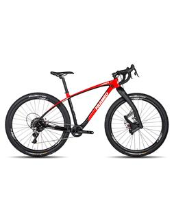 Framed Marquette Carbon 29in Adventure Bike Rival 1X11 w/ Lauf Fork and Alloy Wheels Red/Black