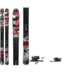 K2 Sidestash RS2 50th Anniversary Rolling Stones Skis w/ Rossignol Axium 110 Bindings