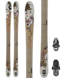 Rossignol S74W Skis w/ Fischer RS10 Bindings