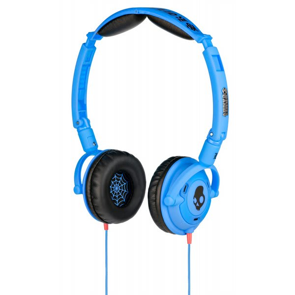 Skullcandy Lowrider Headphones W / Mic Shoe Blue Discontinued Model U.S.A. & Canada