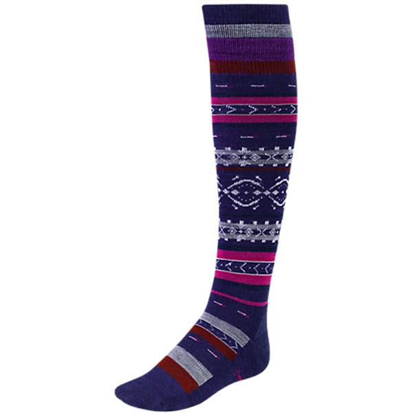 Smartwool Fairview Fairisle nee High Socks Imperial Purple Heather U.S.A. & Canada