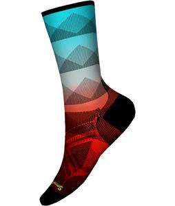 Smartwool PhD Cycle Ultra Light Mountain Mesh Print Crew Socks