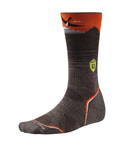 Smartwool PhD Outdoor Light Crew:Charley Harper Natl Pk Pstr Bird on Mntn Socks