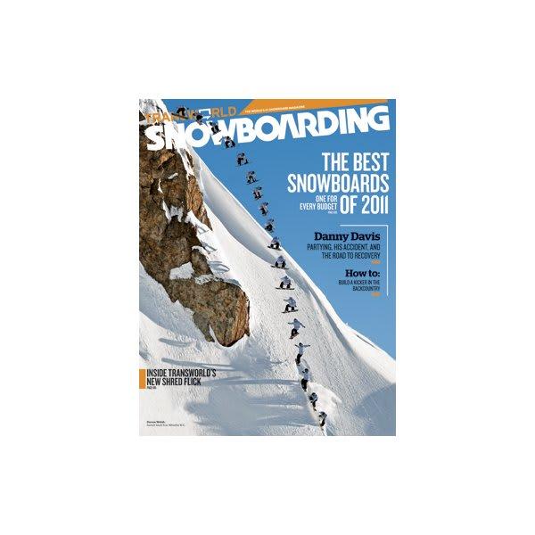 Transworld Snowboarding Magazine Subscription 1 Year / 9 Issues U.S.A. & Canada