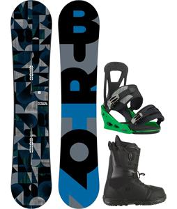 Burton Clash Snowboard w/ Moto LTD Boots & Freestyle Re:Flex Bindings