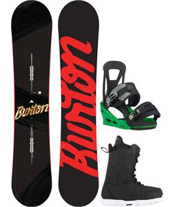 Burton Ripcord Snowboard w/ Transfer Boots & Freestyle Re:Flex Bindings