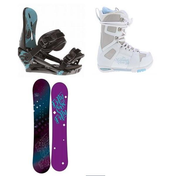 5150 Prism Snowboard W / M3 White Boots & Morrow Sky Bindings U.S.A. & Canada