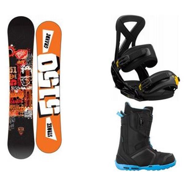 Burton Blunt Wide Snowboard W / Invader Boots & Custom Bindings U.S.A. & Canada