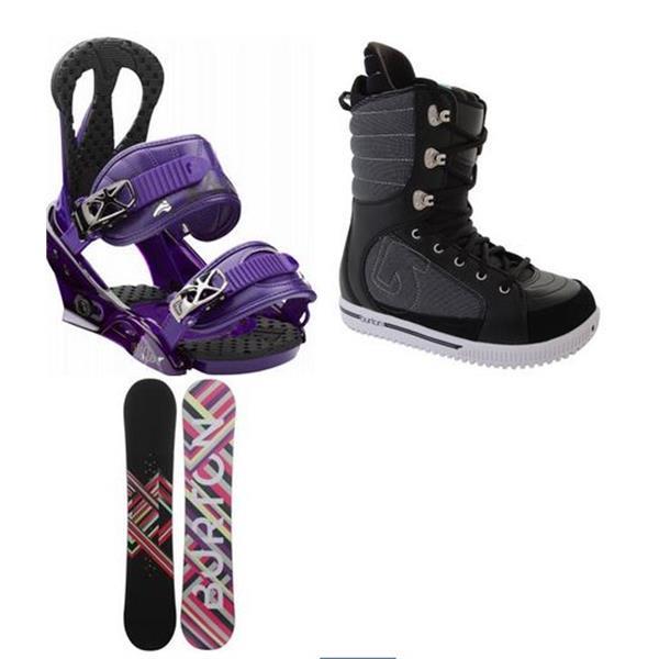 Burton Charm Snowboard W / Tryst Boots & Citzen Bindings U.S.A. & Canada