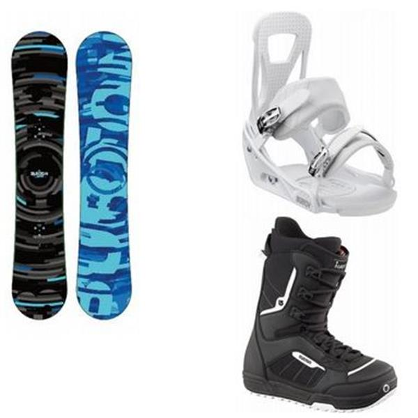 Burton Clash Snowboard W / Invader Boots & Freestyle Bindings U.S.A. & Canada