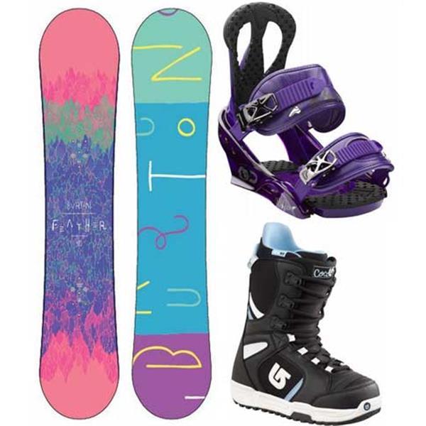 Burton Feather Snowboard W / Boots & Citzen Bindings U.S.A. & Canada