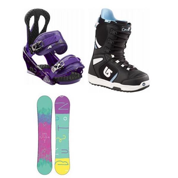 Burton Feather Wide Snowboard W / Boots & Citzen Bindings U.S.A. & Canada
