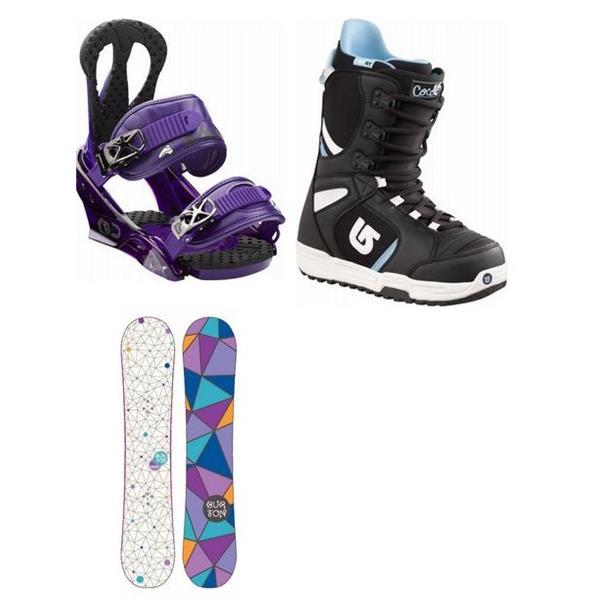 Burton Genie Snowboard W / Boots & Burton Citzen Bindings U.S.A. & Canada
