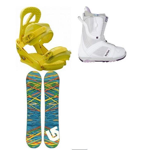 Burton Socail Snowboard W / Mint Boots & Scribe Bindings U.S.A. & Canada