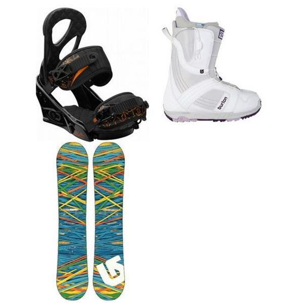 Burton Social Snowboard W / Mint Boot & Stiletto Bindings U.S.A. & Canada