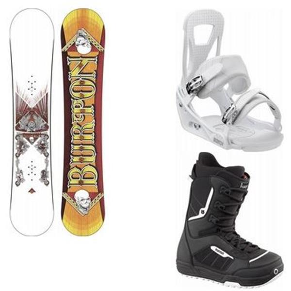 Burton Twc Standard Wide Snowboard W / Invador Boots & Freestyle Bindings U.S.A. & Canada