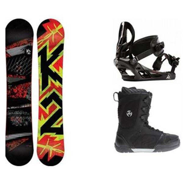 2 Brigade Wide Snowboard W / Pulse Boots & Sonic Bindings U.S.A. & Canada