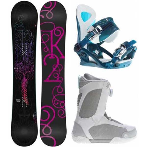 2 Bright Lite Snowboard W / Sendit Boots & Yeah Bindings U.S.A. & Canada